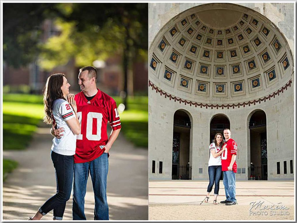 OSU Ohio Stadium engagement photography