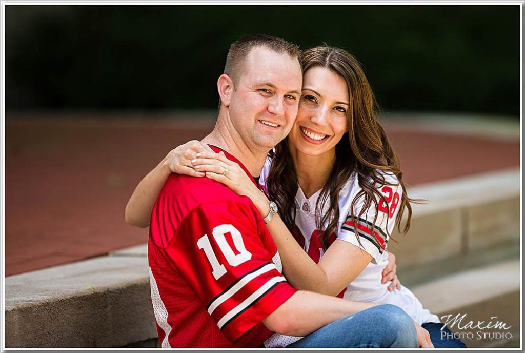 Ohio State University Engagement pictures