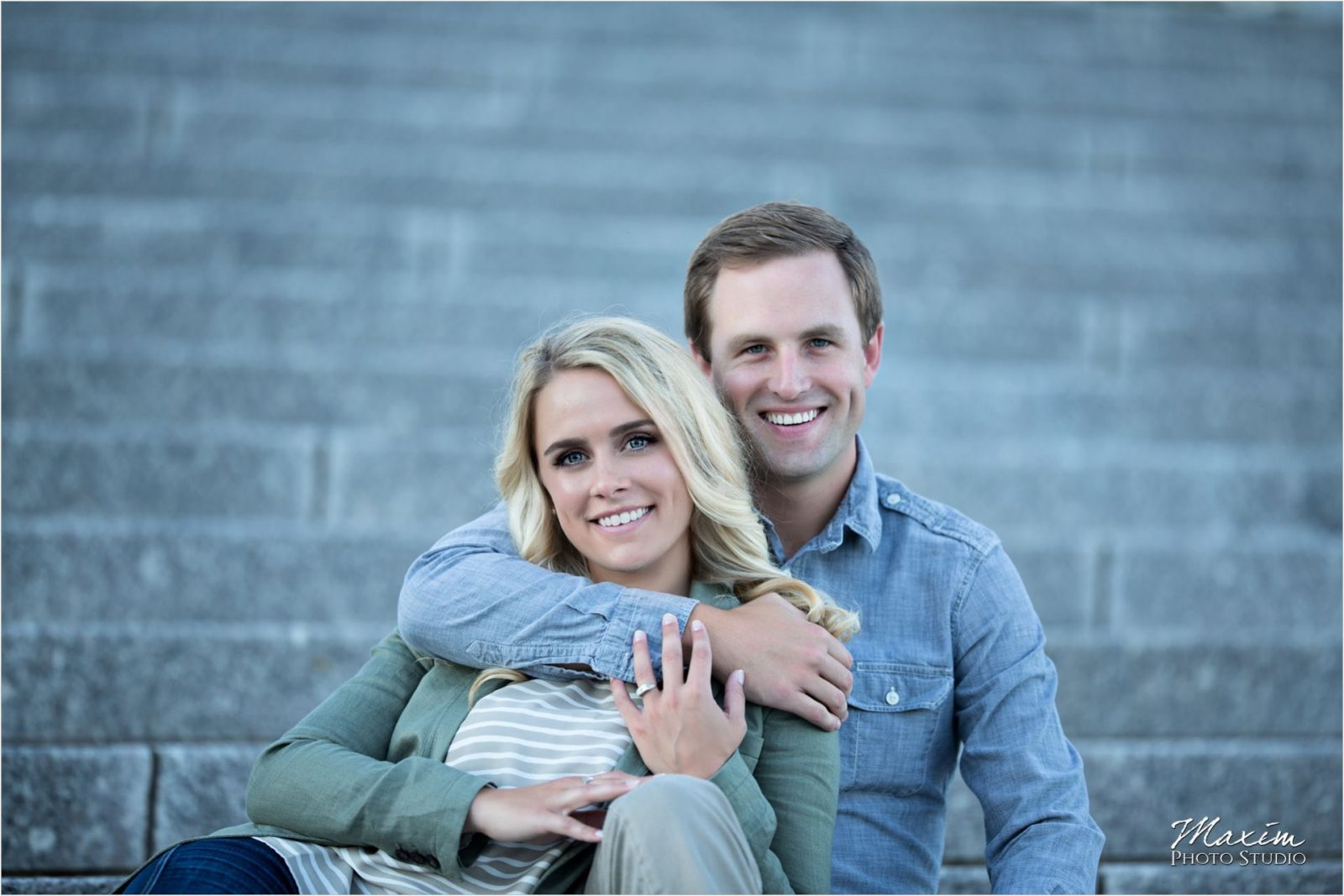 Smale Riverfront Park Steps Cincinnati Engagement