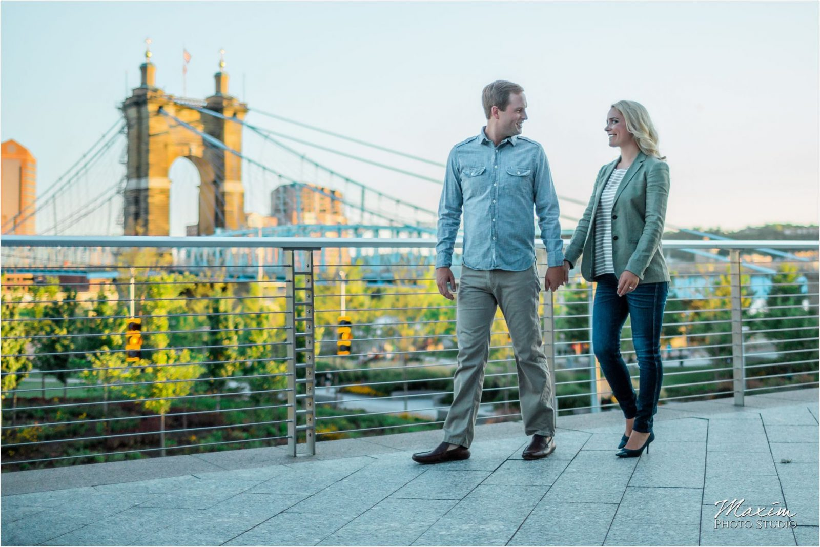 Moerlein House Roebling Bridge Cincinnati Wedding Engagement Photography