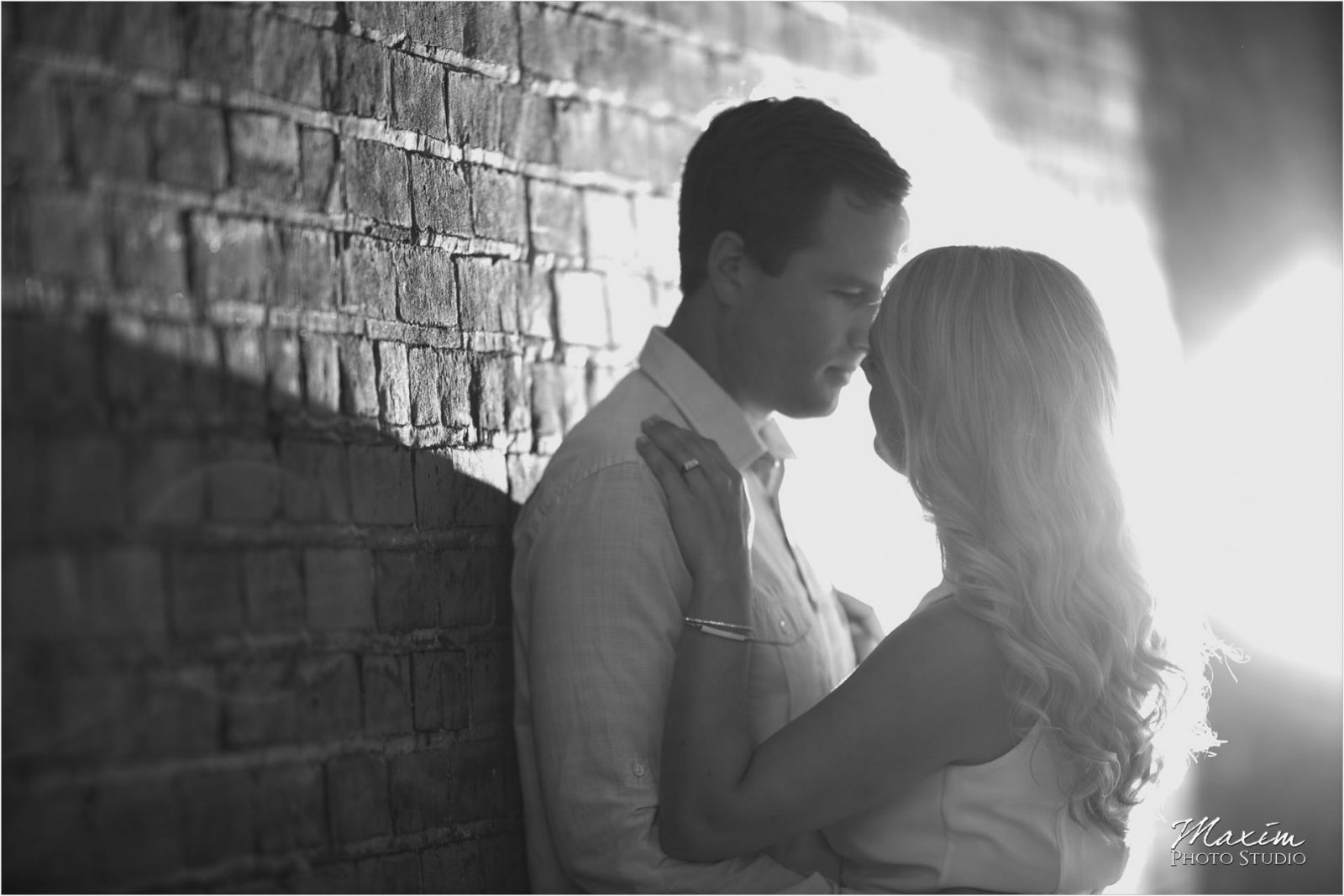 Black and White Hyde Park Cincinnati Engagement Photography