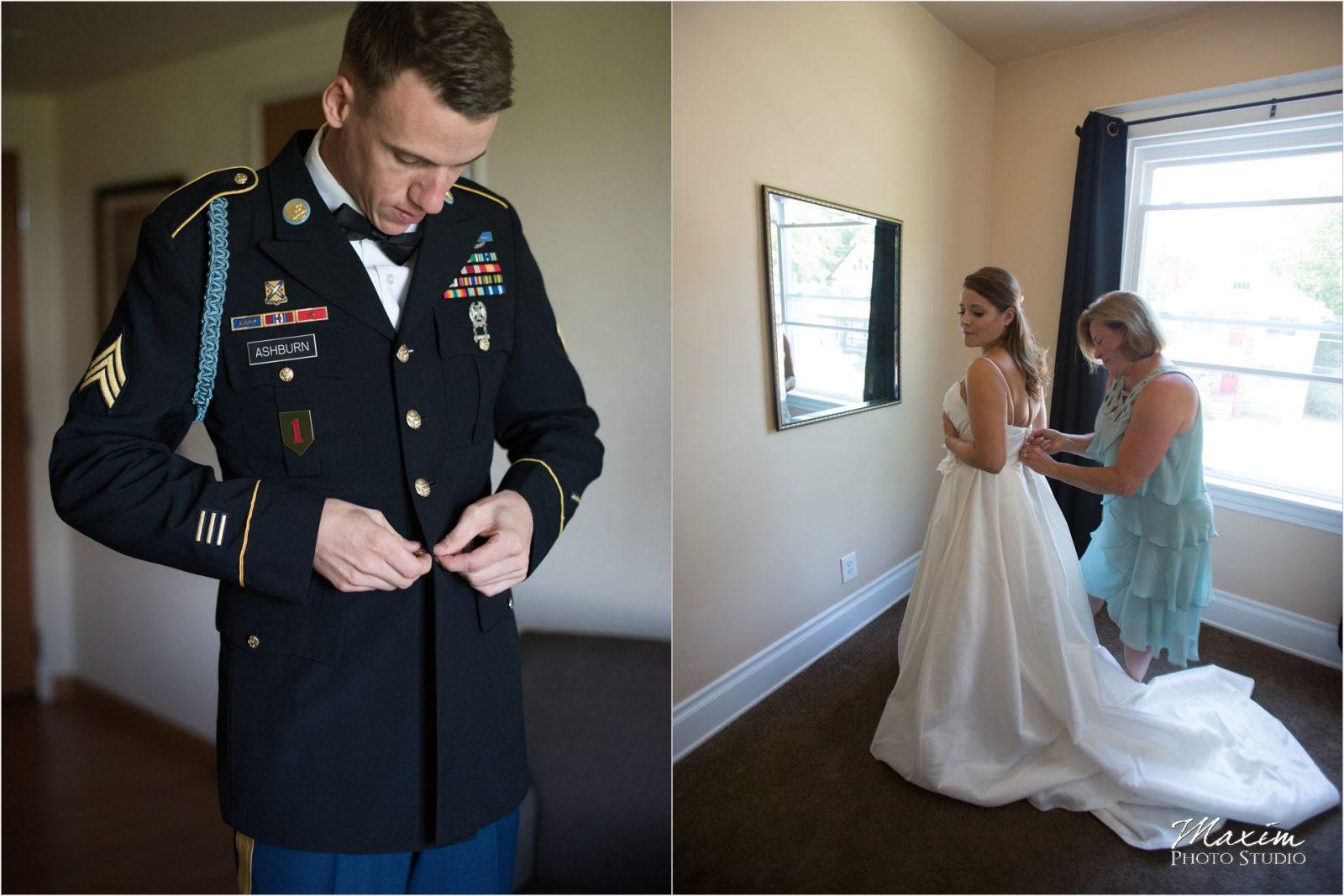 Cincinnati Wedding Photographers Bellarmine Chapel preparations