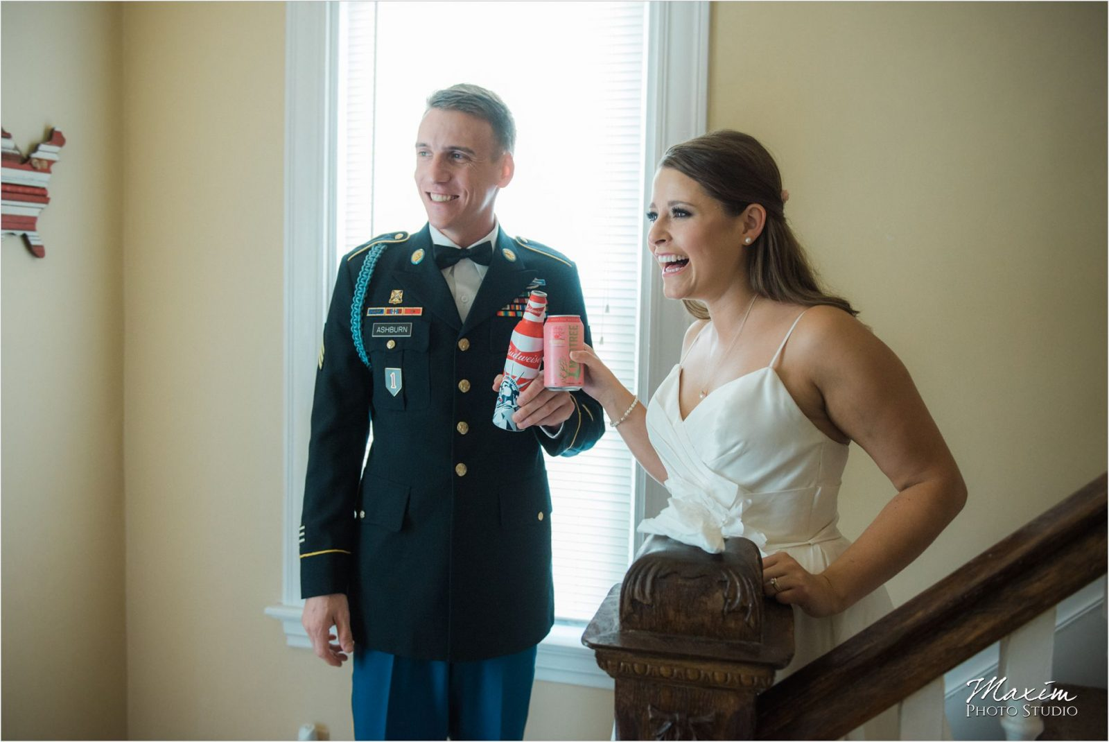 Cincinnati Wedding Photographers Mt Adams first look