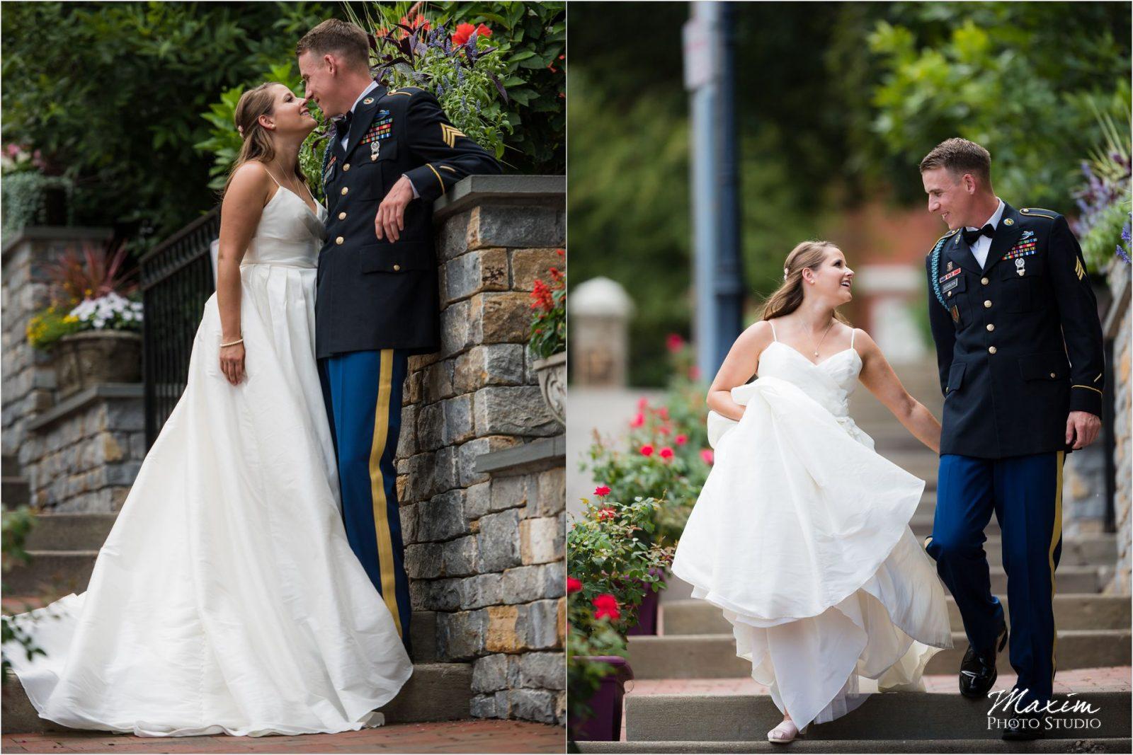 Cincinnati Wedding Photographers Mt Adams bride groom