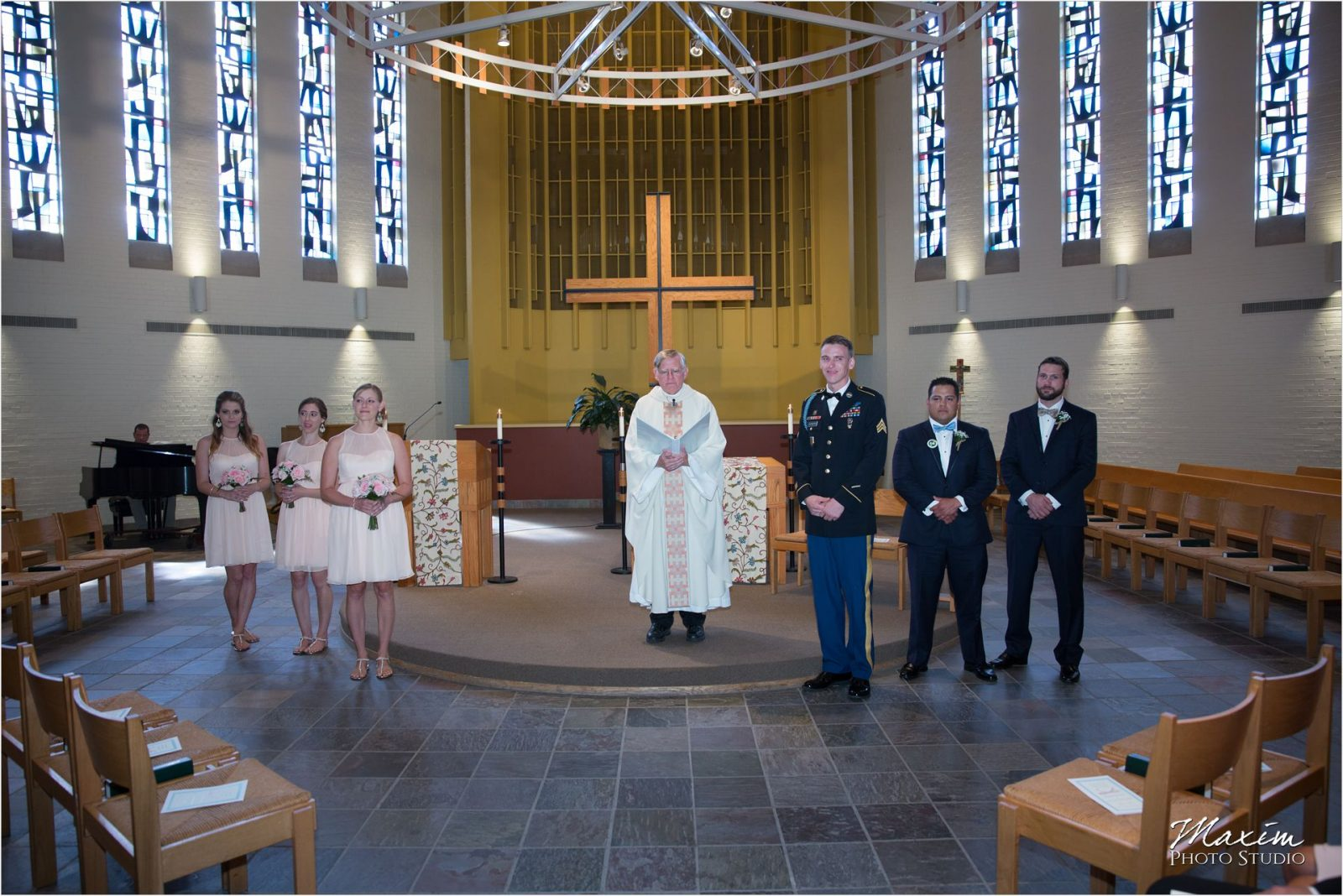 Cincinnati Wedding Photographers Bellarmine Chapel wedding ceremony