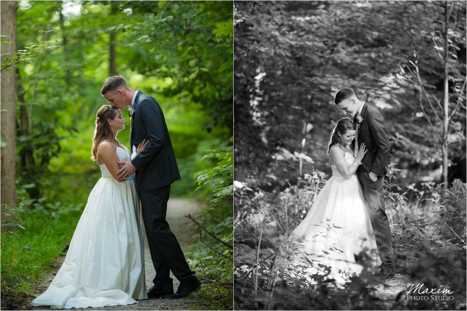 Cincinnati Wedding Photographers Krippendorf Lodge Cincinnati Nature Center bride groom