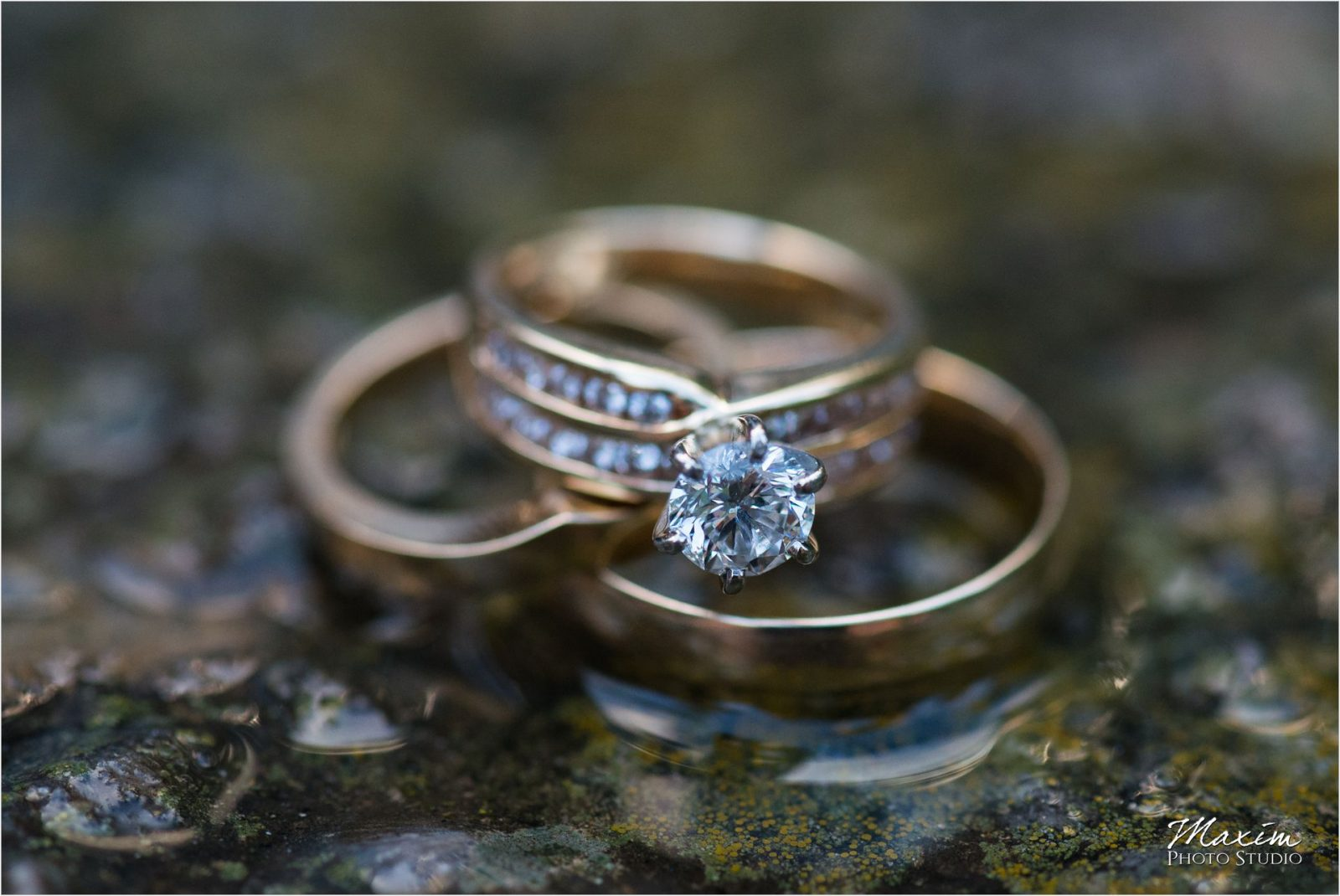 Cincinnati Wedding Photographers Krippendorf Lodge Cincinnati Nature Center Reception Wedding rings
