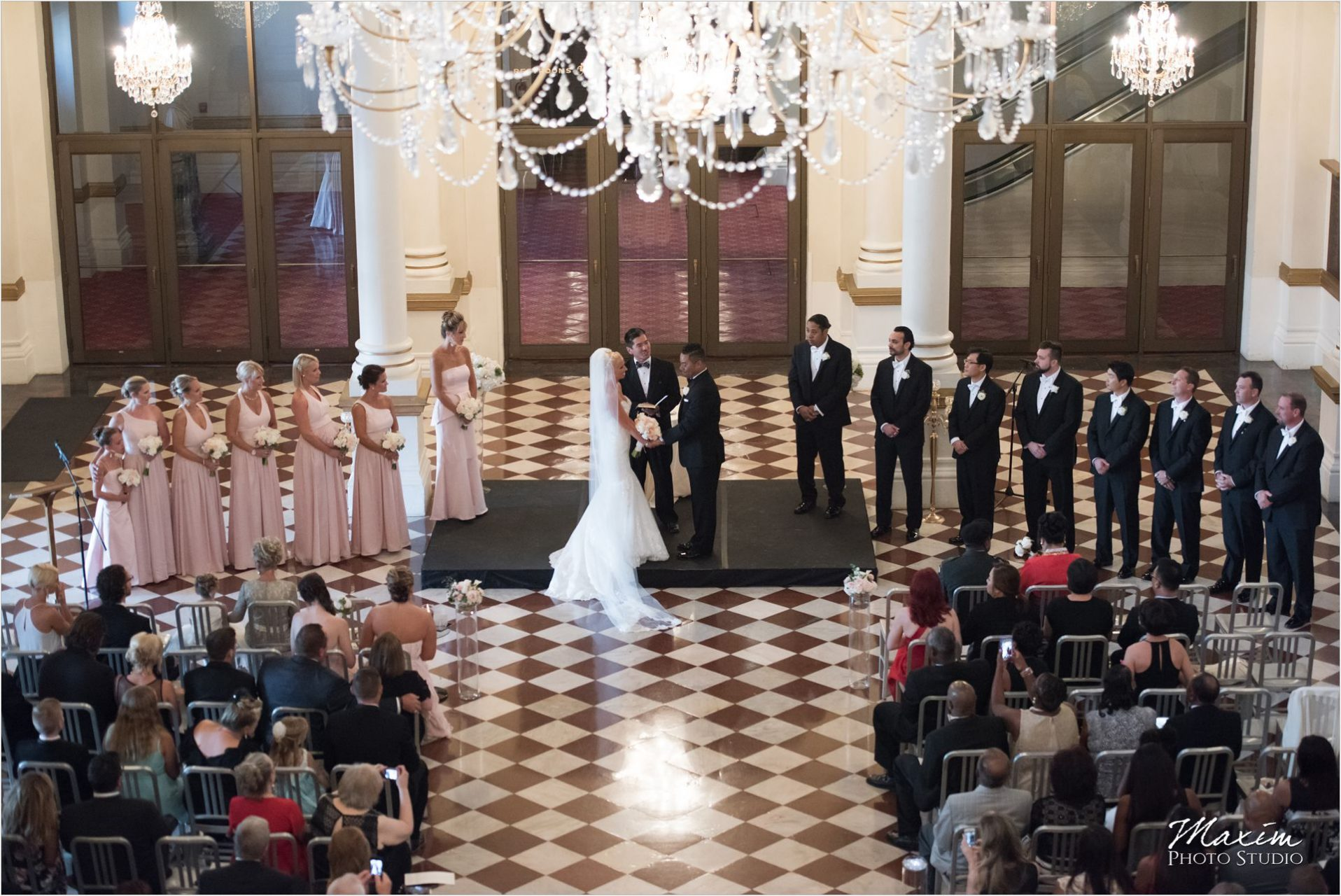 Cincinnati Wedding Photographers Music Hall Wedding Ceremony