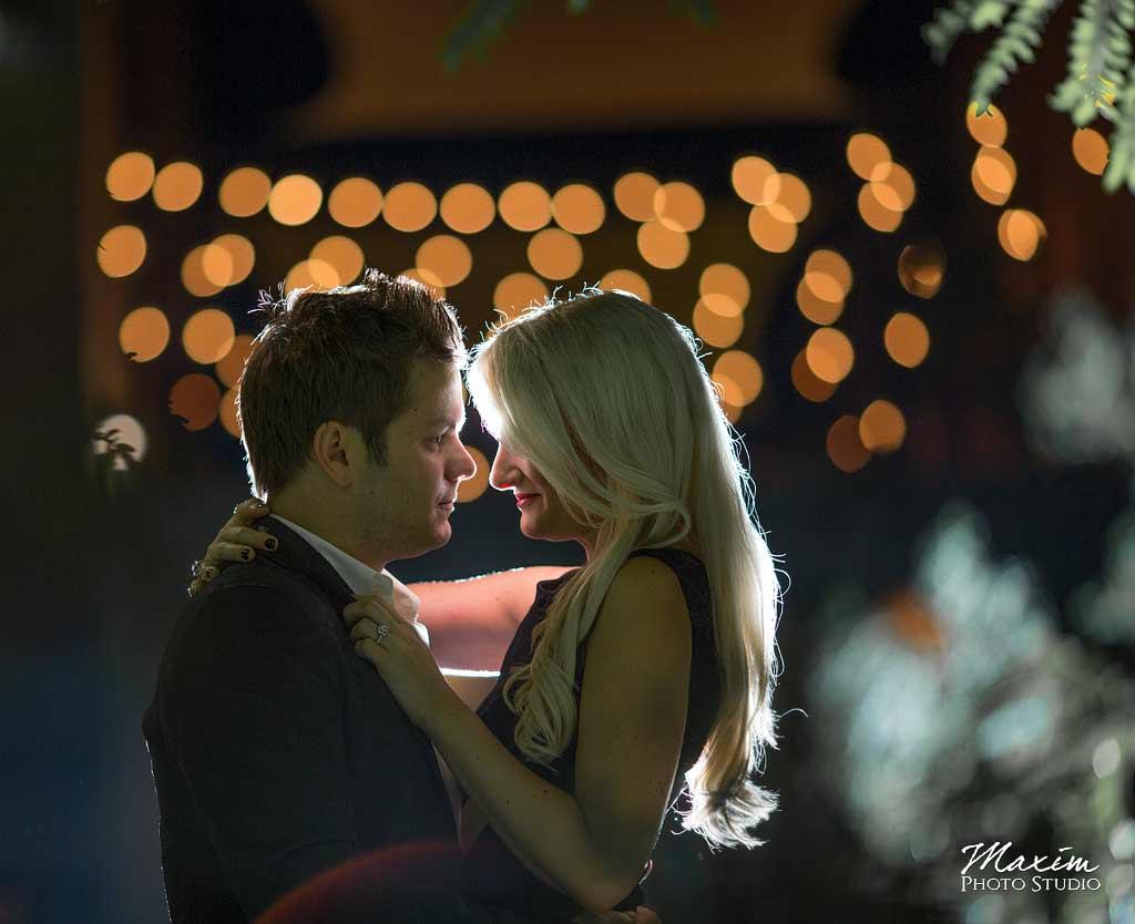 Bistro Lights Cincinnati Engagement Photographer