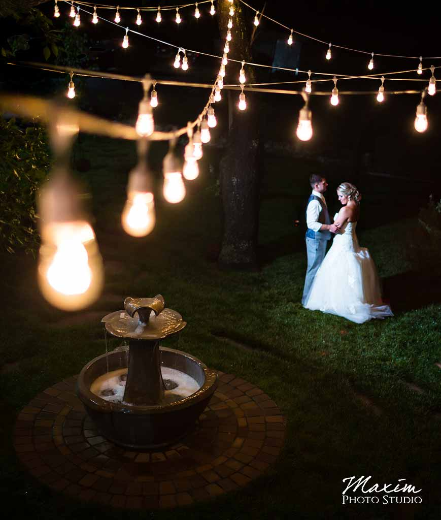 Bistro Lights at Cedar Spring Pavilion wedding