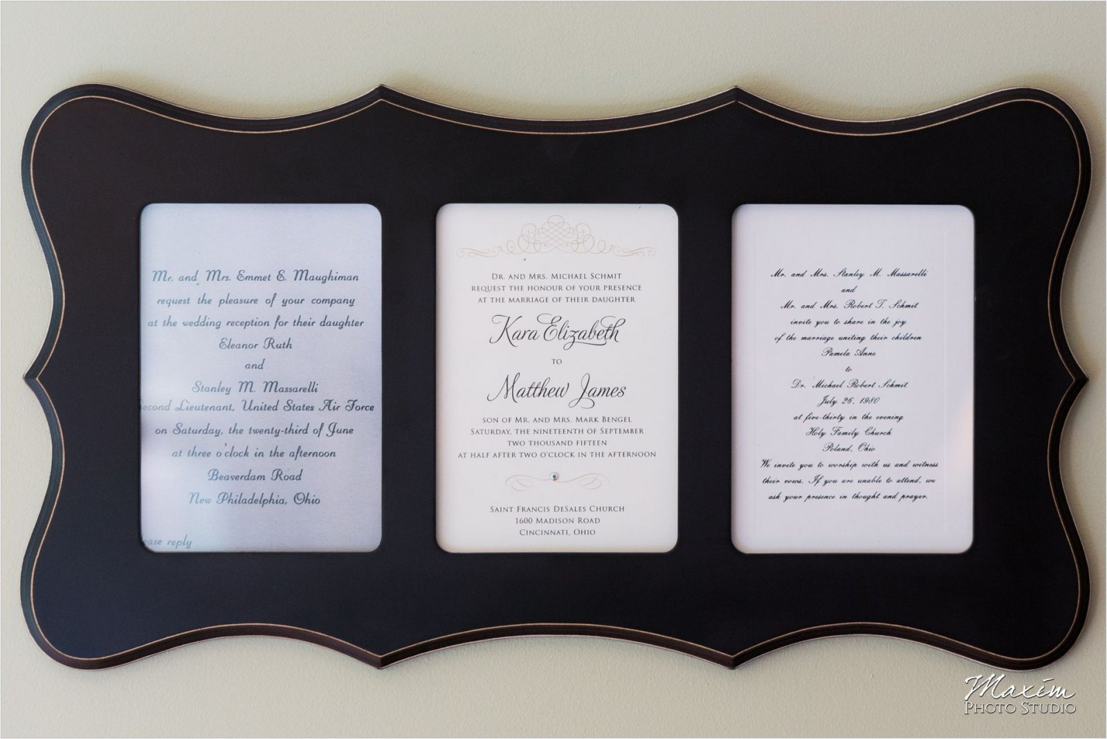 Three Generations of wedding announcements