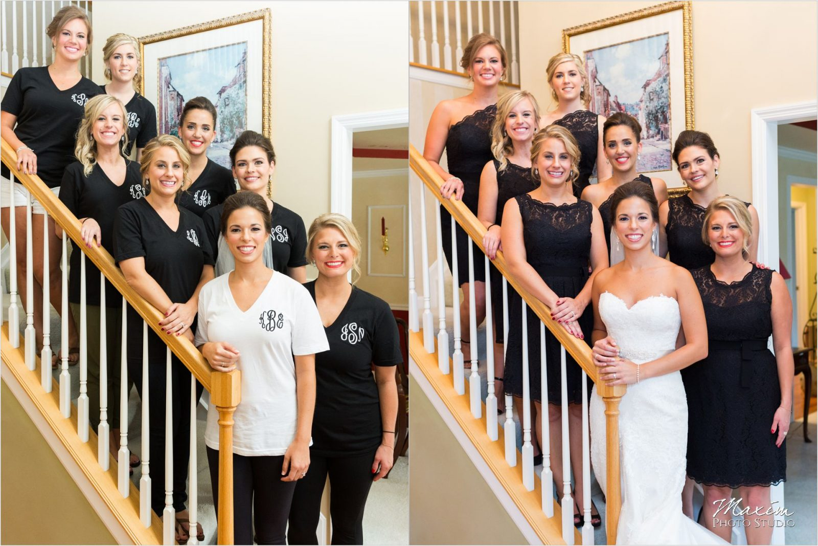The Phoenix Cincinnati Wedding Photography Bride before After