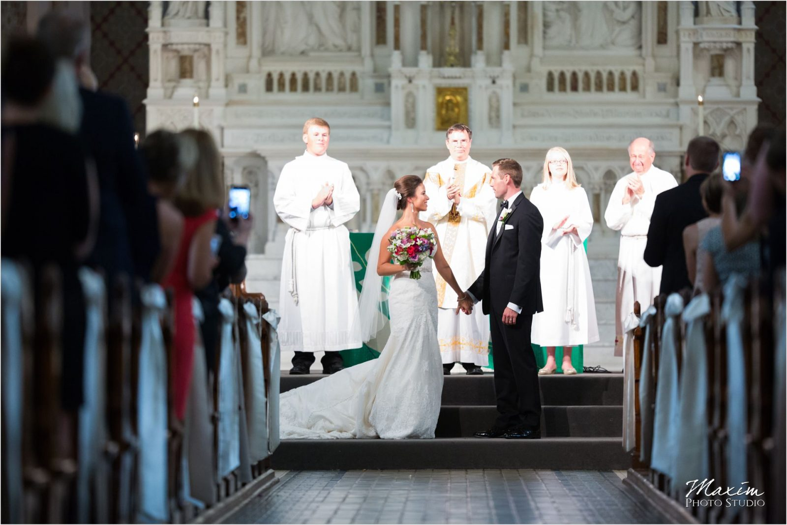 St Xavier Church Cincinnati Wedding Ceremony photography
