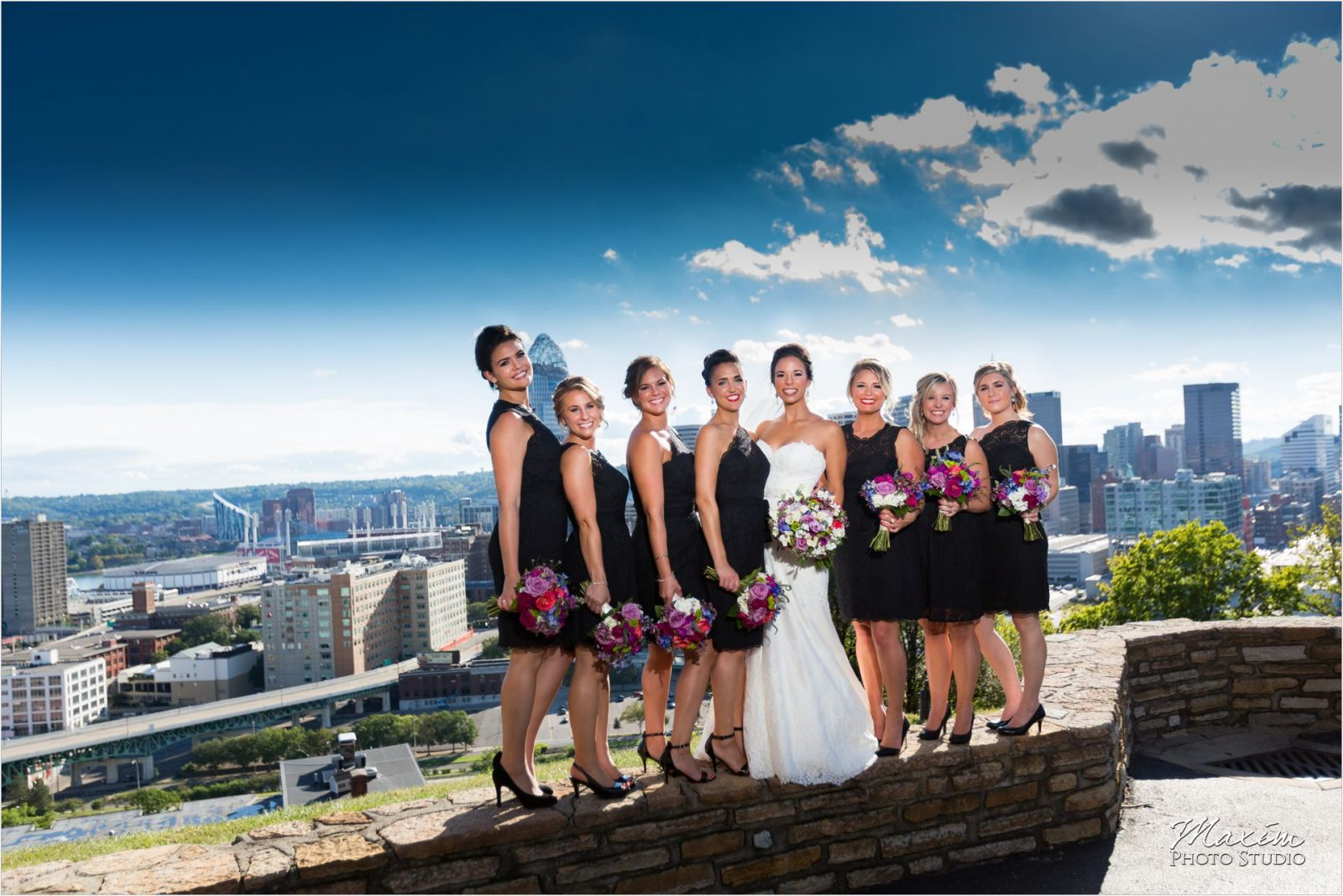 Rookwood Cincinnati Overlook wedding bridesmaids