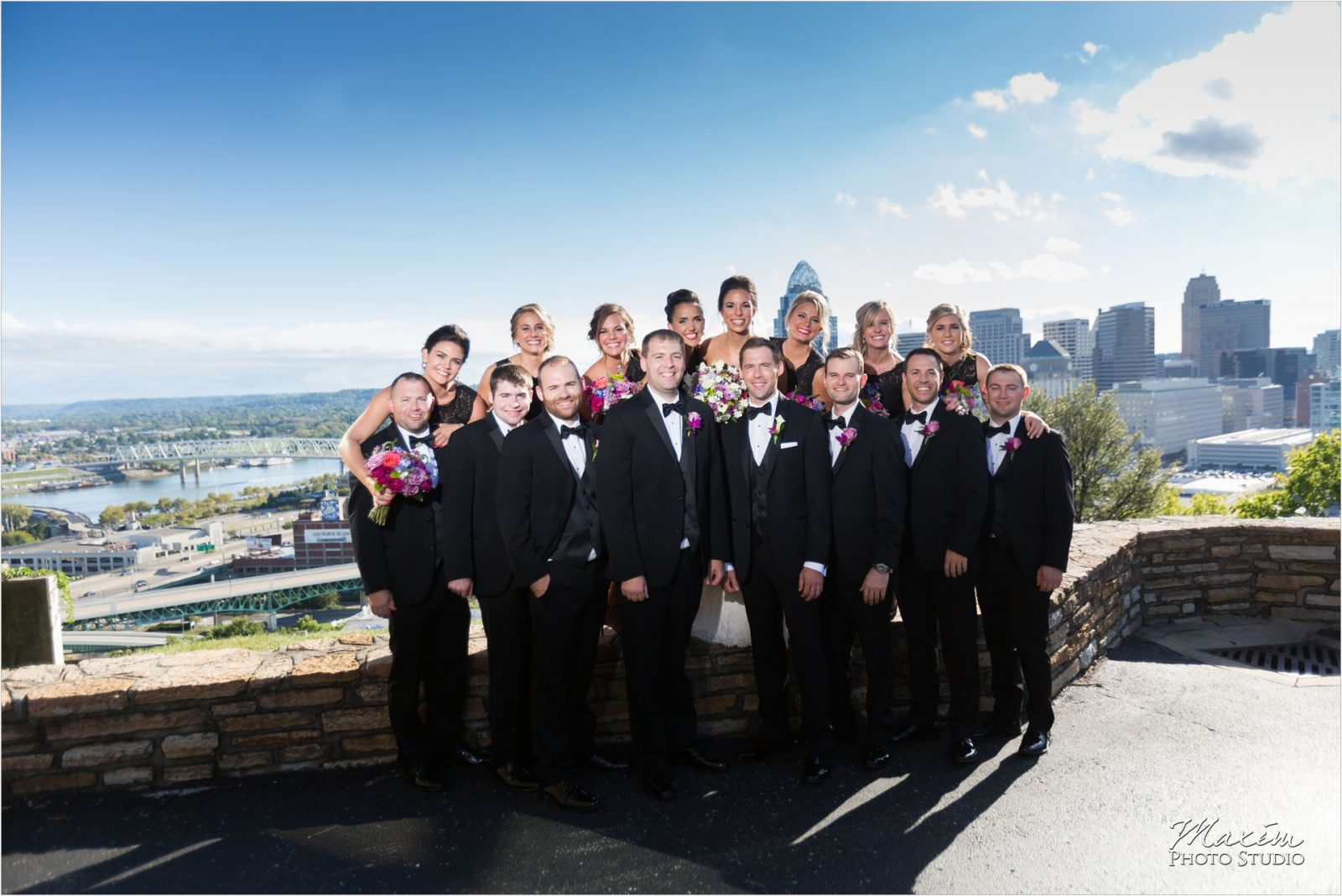 Rookwood Cincinnati Overlook wedding bridal party