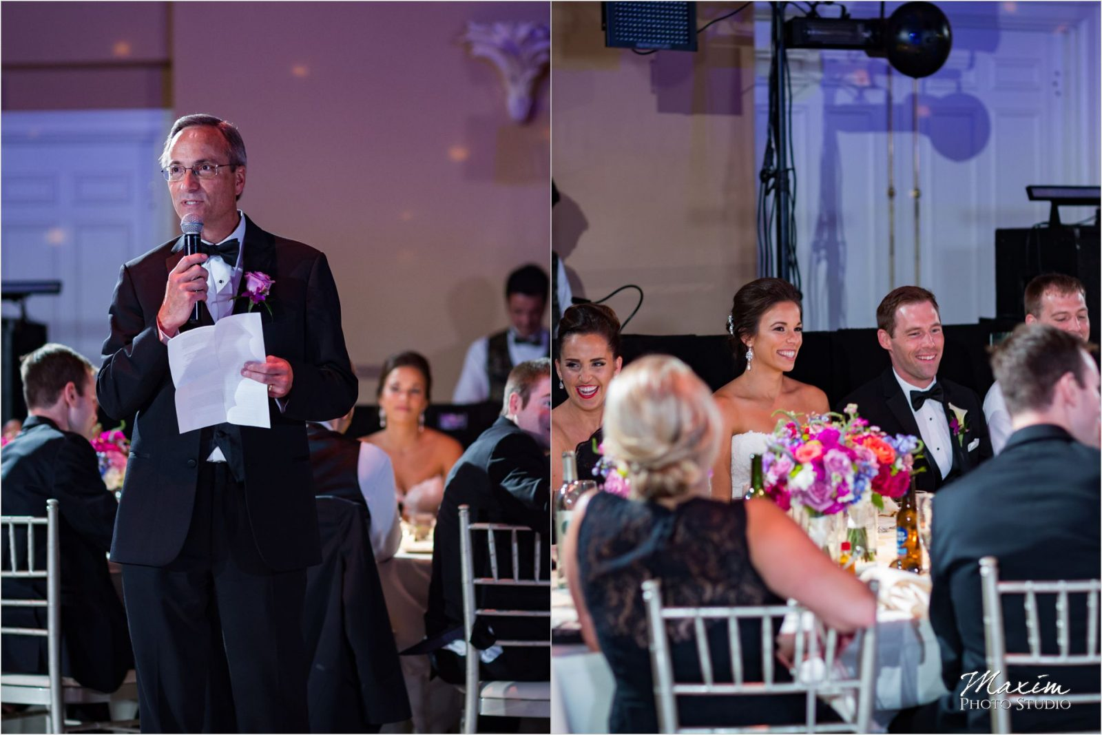 The Phoenix Cincinnati Wedding reception toasts