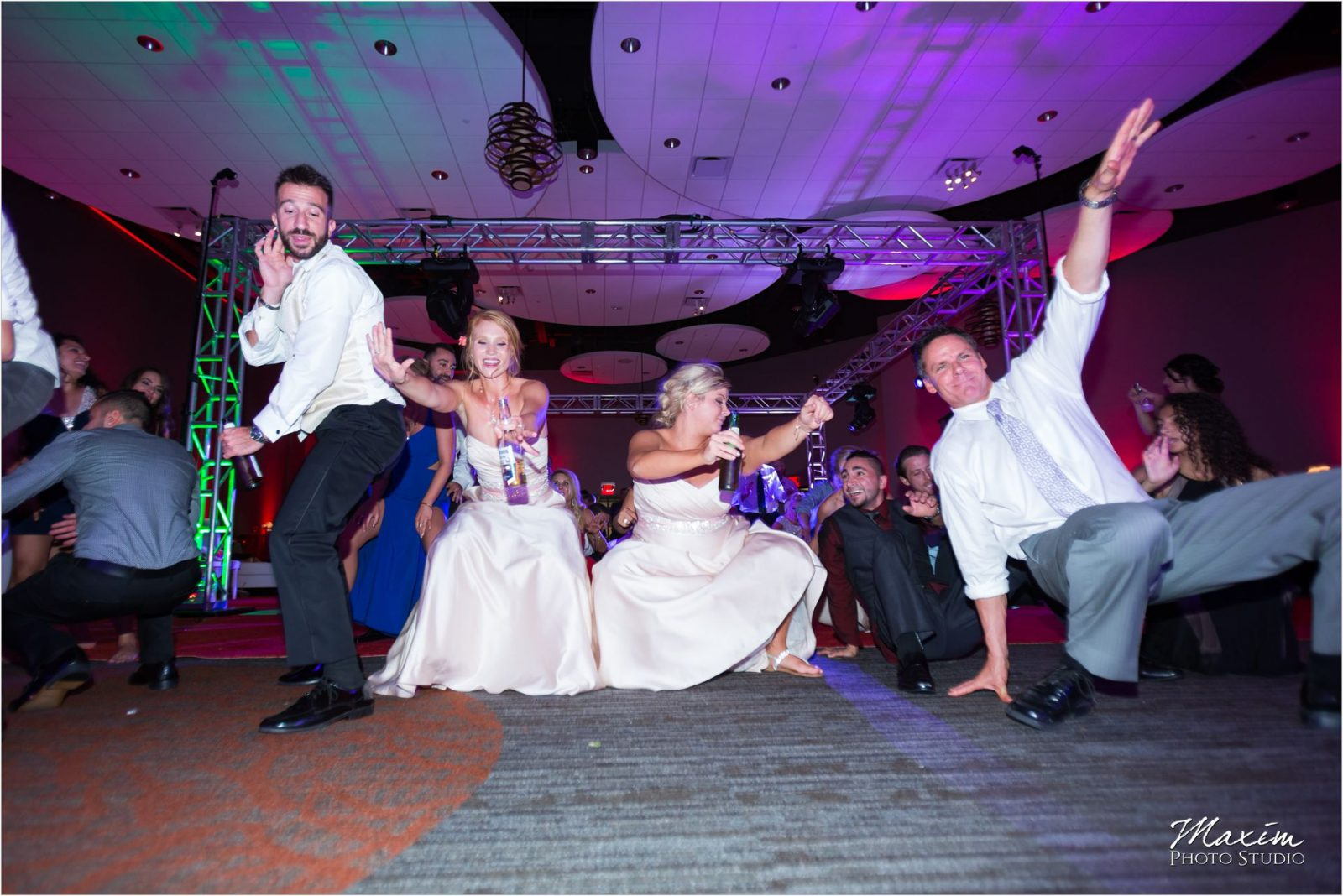 Cincinnati Wedding Photographers Sharonville Convention Center Wedding Reception dancing