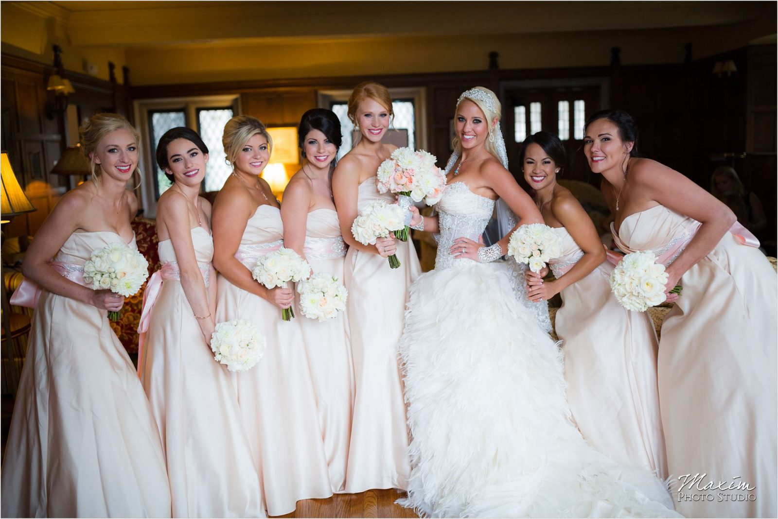 Cincinnati Wedding Photographers Hyde Park United Methodist Church Wedding bride bridesmaids