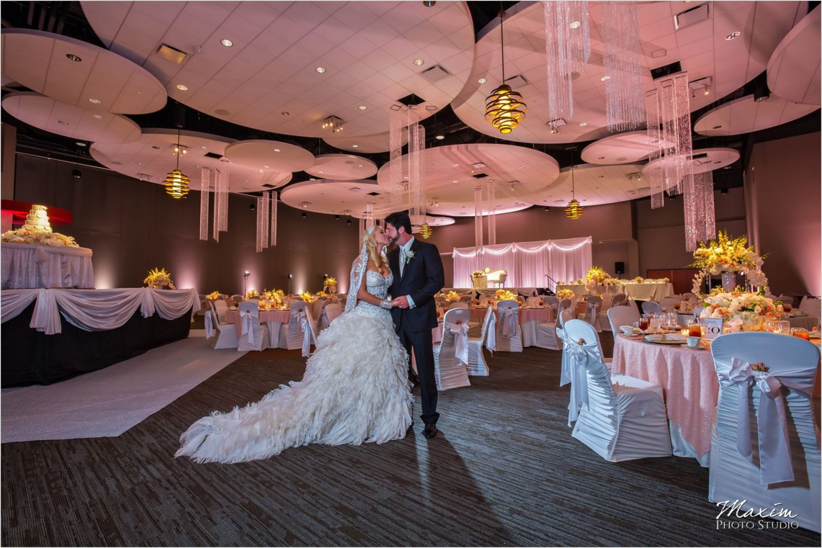 Cincinnati Wedding Photographers Sharonville Convention Center Wedding Reception Bride Groom