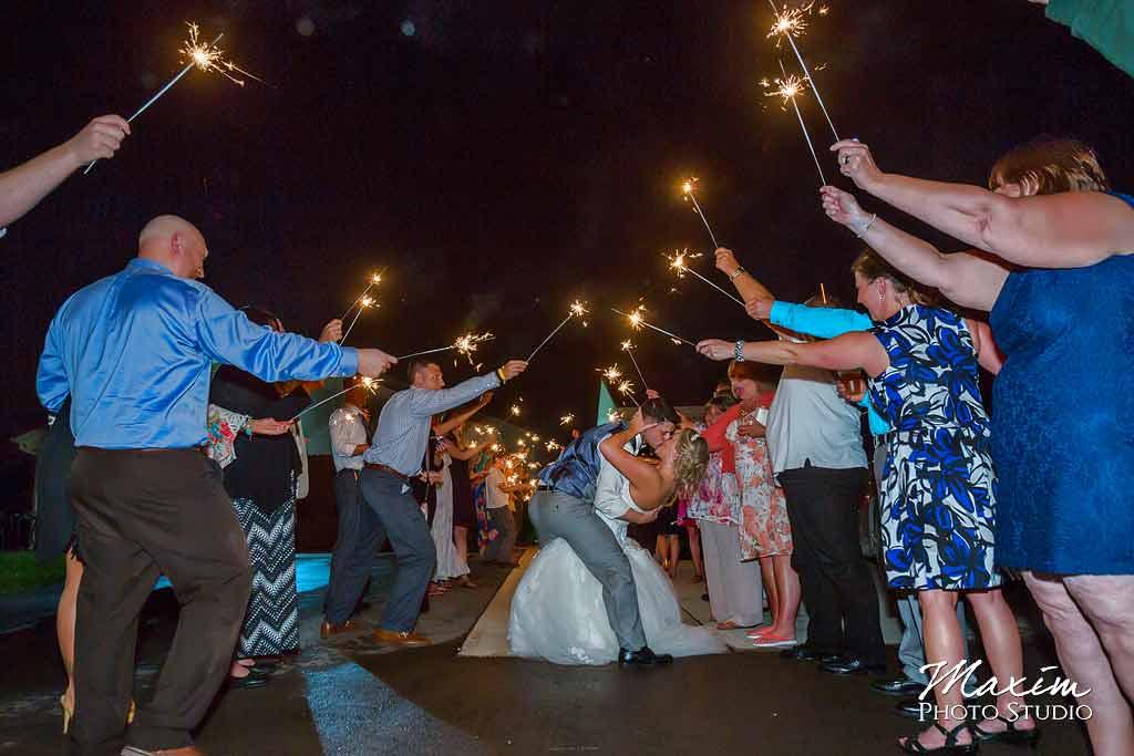 Sparklers exit at Cedar Springs Pavilion