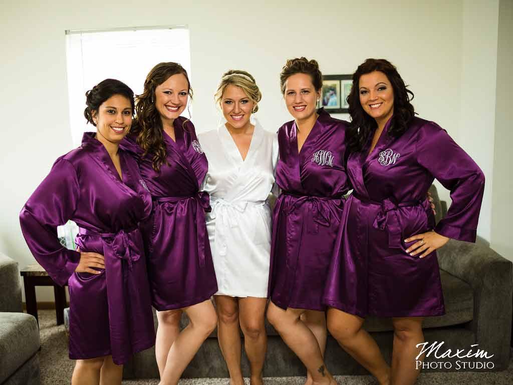 Bride bridesmaids Cedar Springs Pavilion