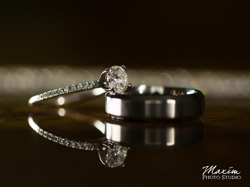 Cedar Springs Pavilion wedding rings
