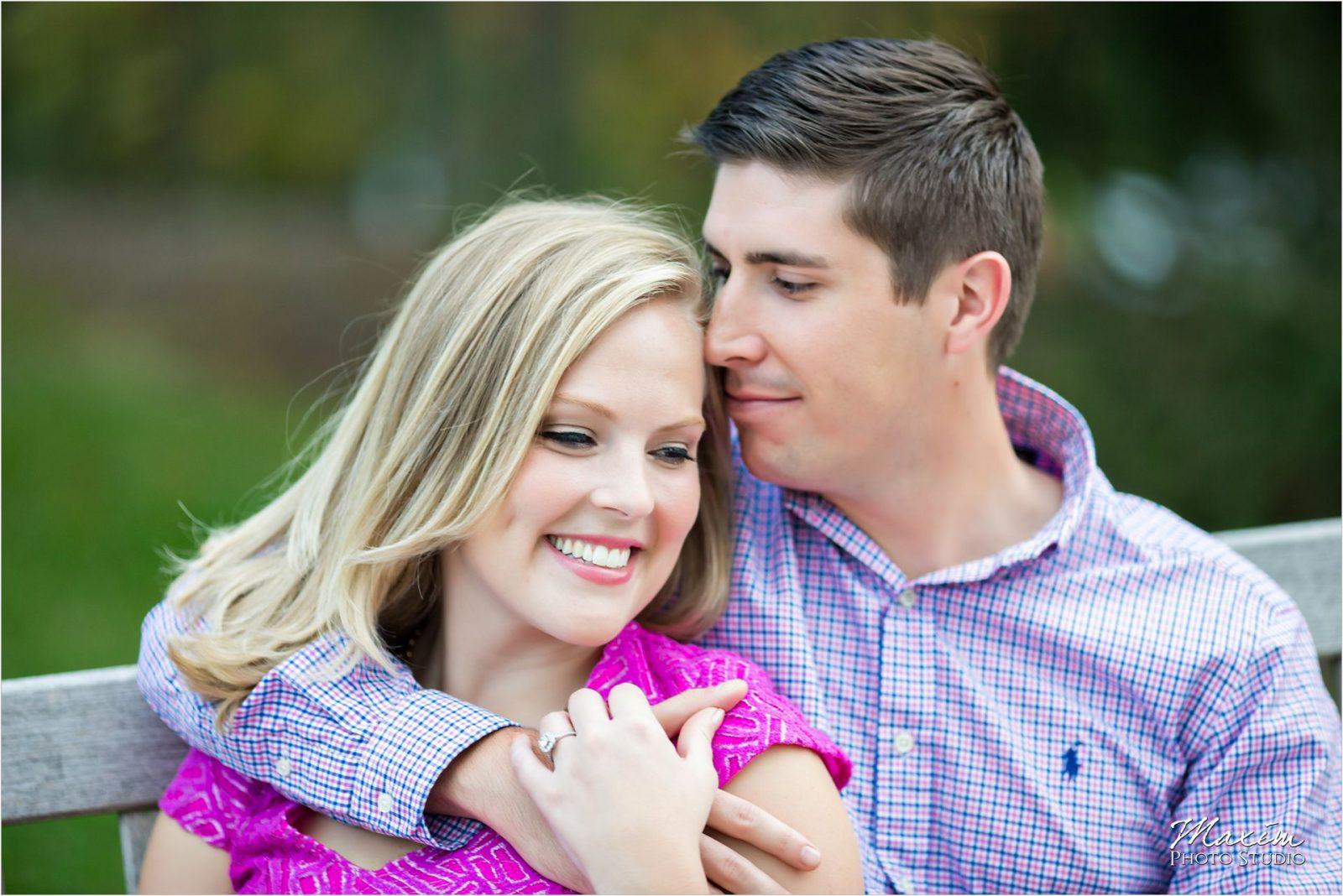 Ault Park Cincinnati Engagement Couple