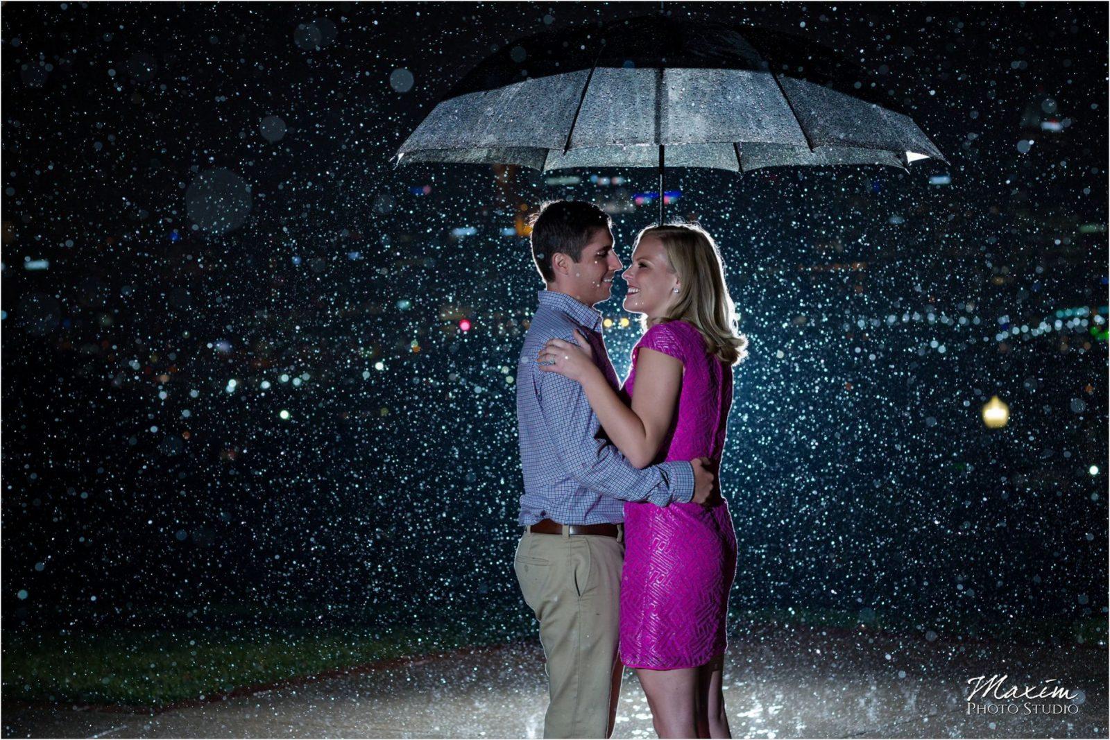 Drees Pavilion Cincinnati Overlook engagement rain