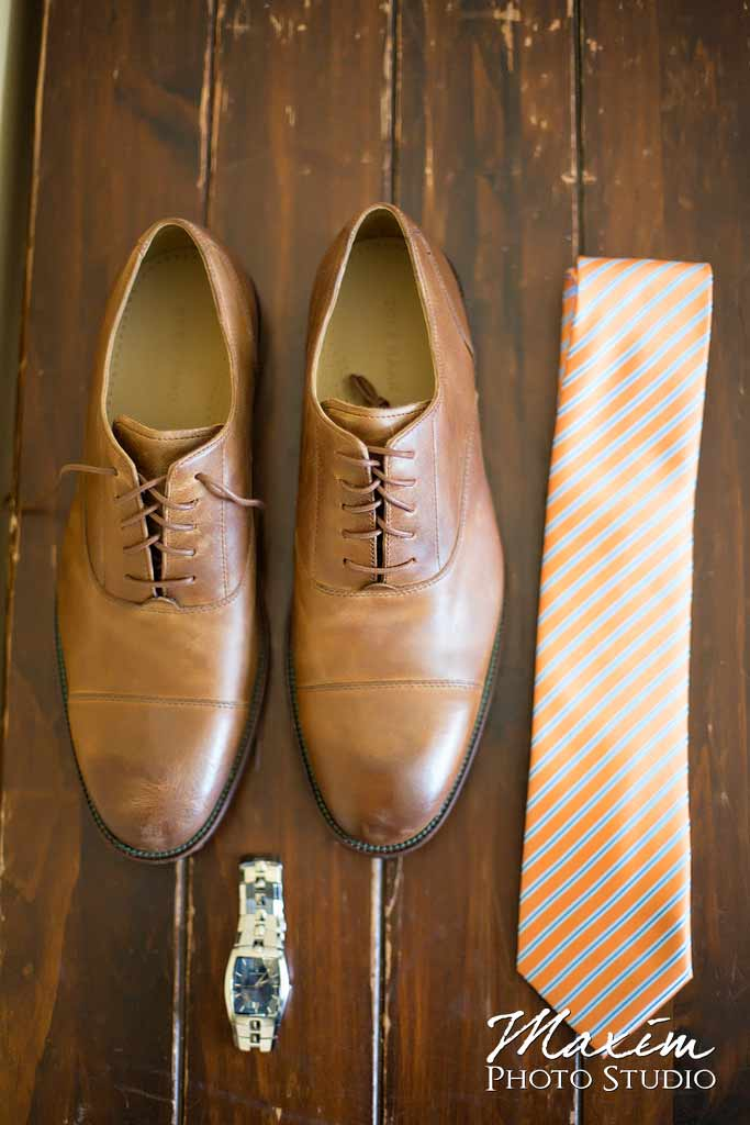 Heavenly Village Groom preparations shoes