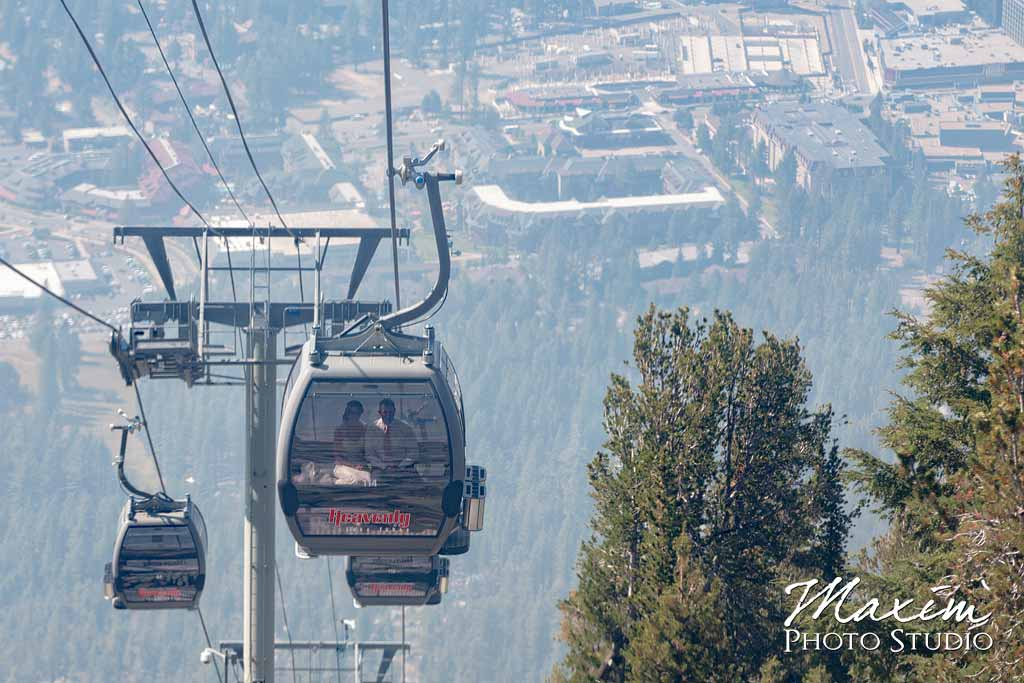 Heavenly village gondola wedding photography