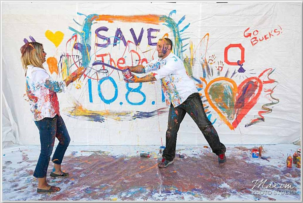 Save the Date Dayton Paint Engagement