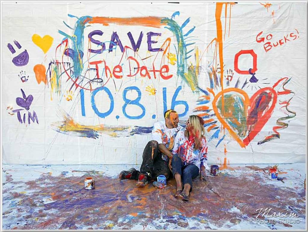 Dayton Engagement using paint