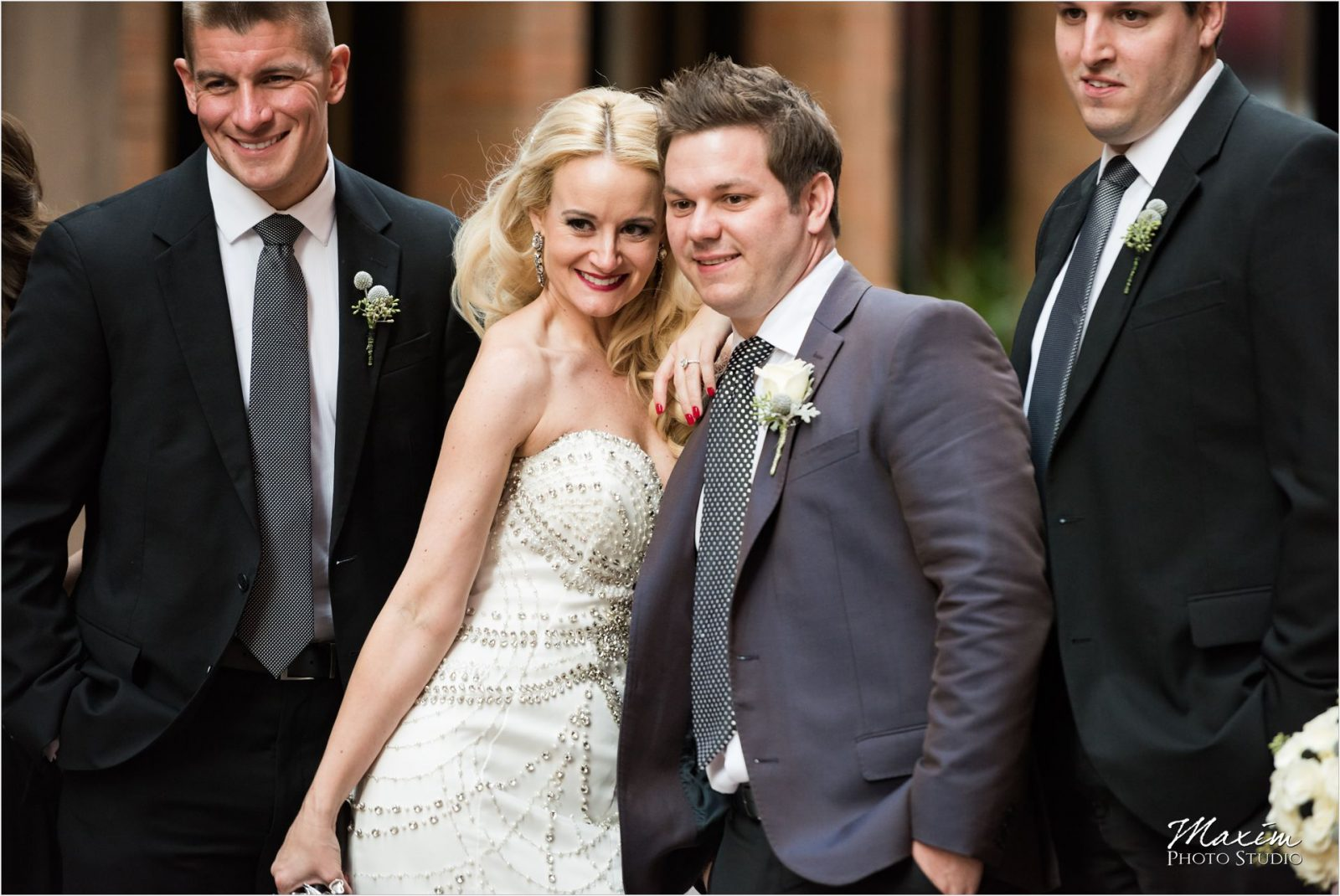 Cincinnati Wedding Photographers Nicholson Alley bride groom portraits