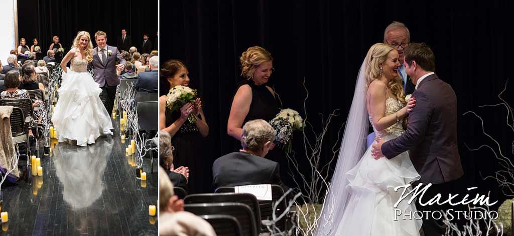 contemporary art center wedding ceremony