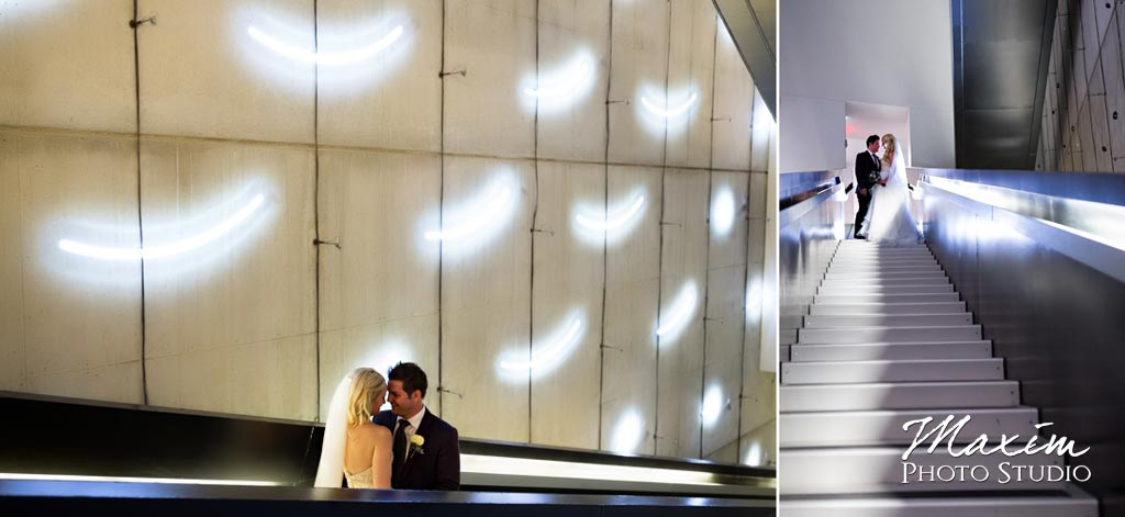 Contemporary art center wedding modern photo