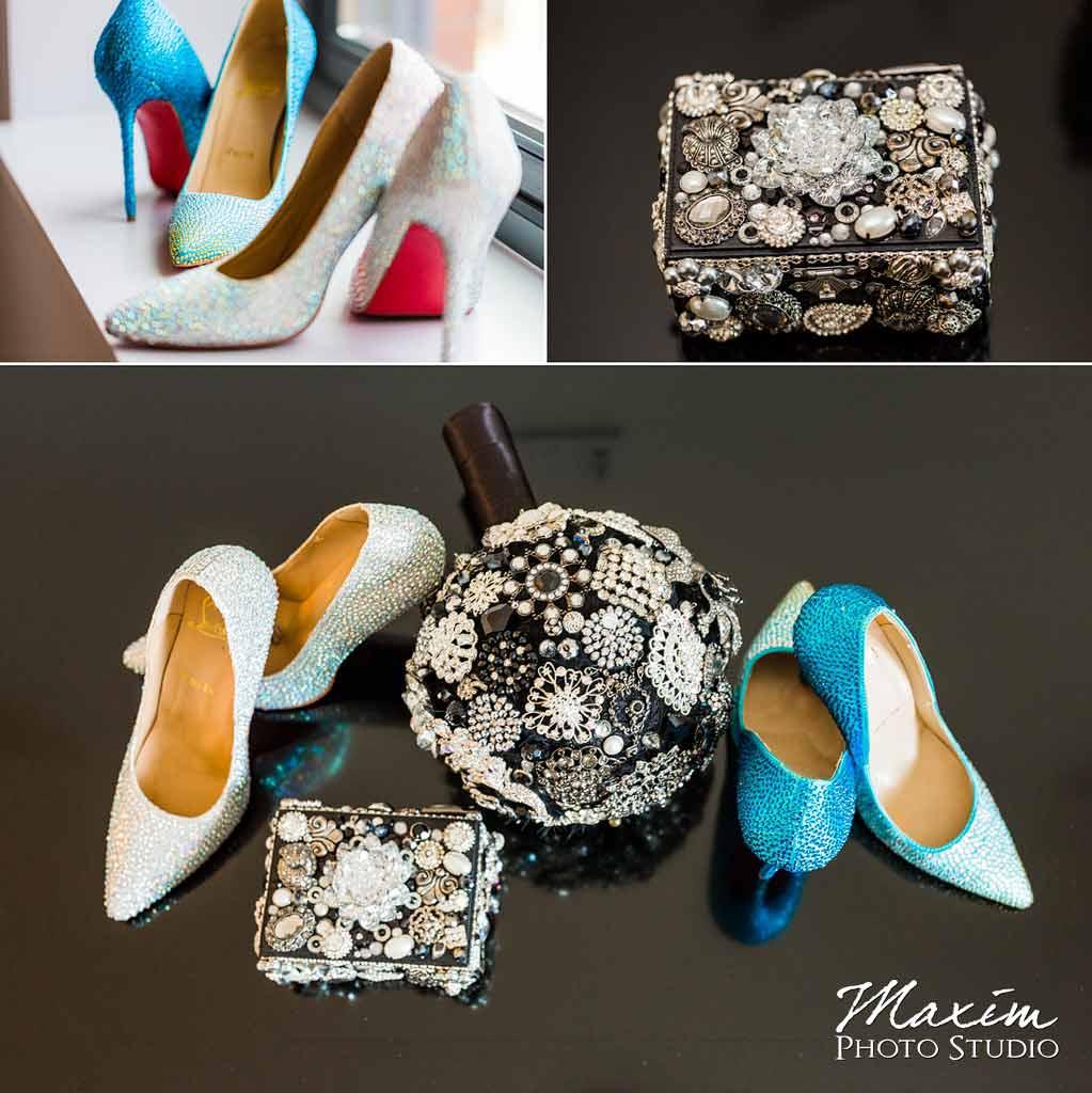 Cincinnati wedding Louboutin shoes bride shoes