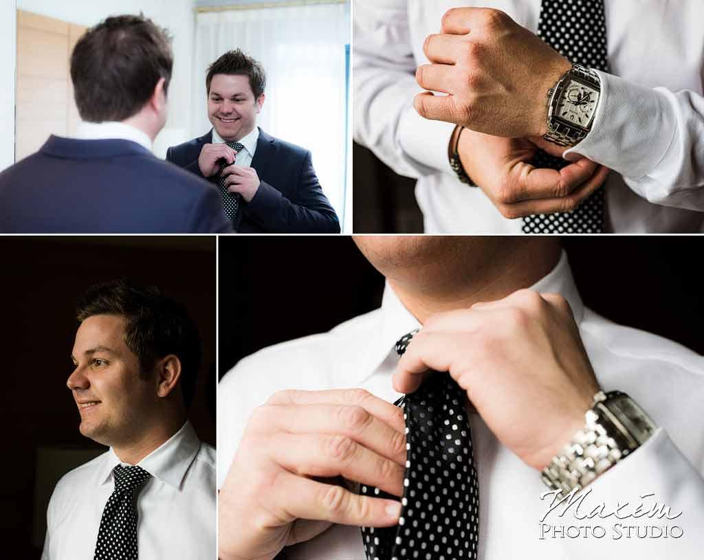 Cincinnati groom wedding getting ready