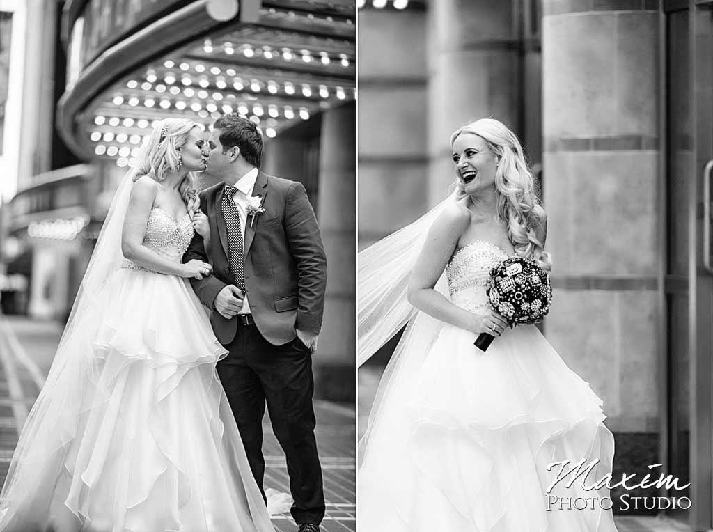 fashion wedding bride downtown cincinnati