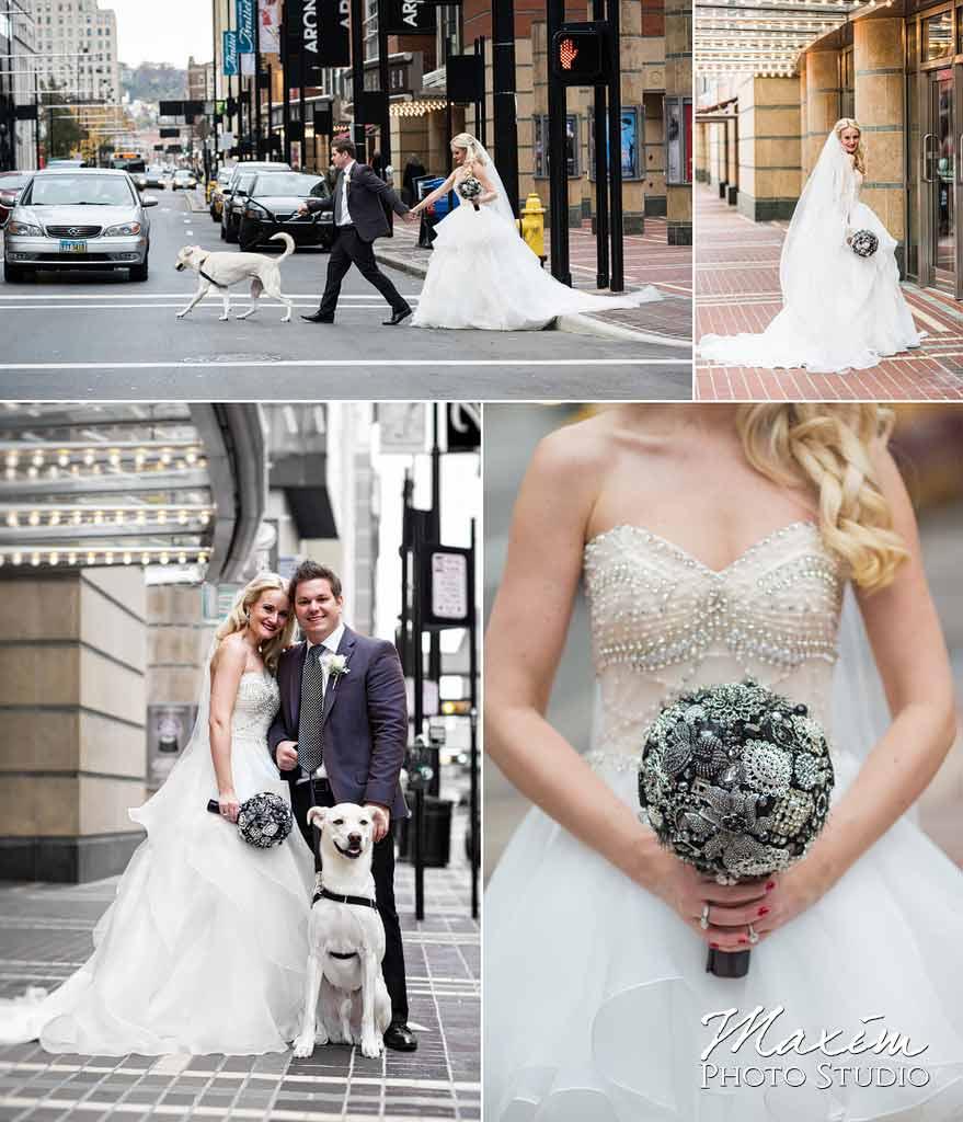 downtown cincinnati modern wedding