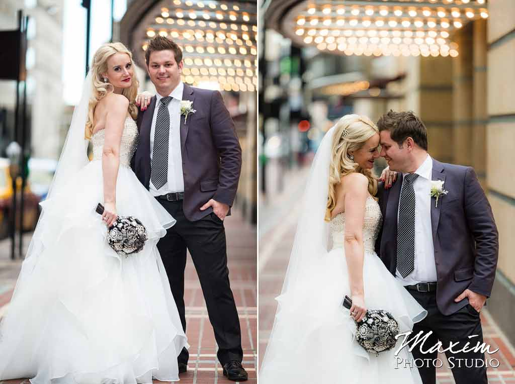elegant modern downtown cincinnati wedding