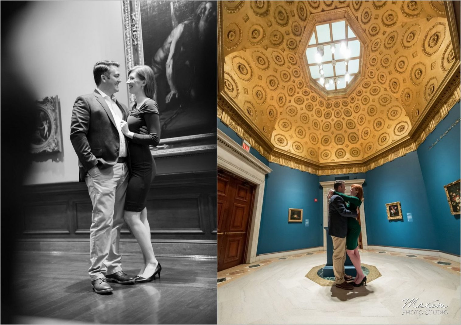 Cincinnati Wedding Photography Art Museum Engagement