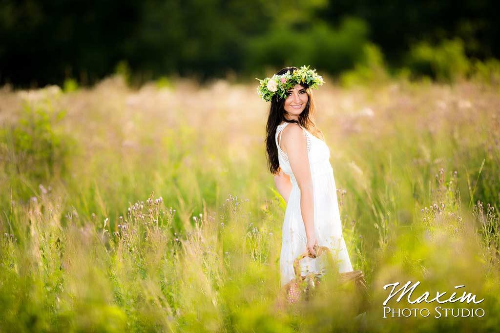 fashion white dress cincinnati engagement