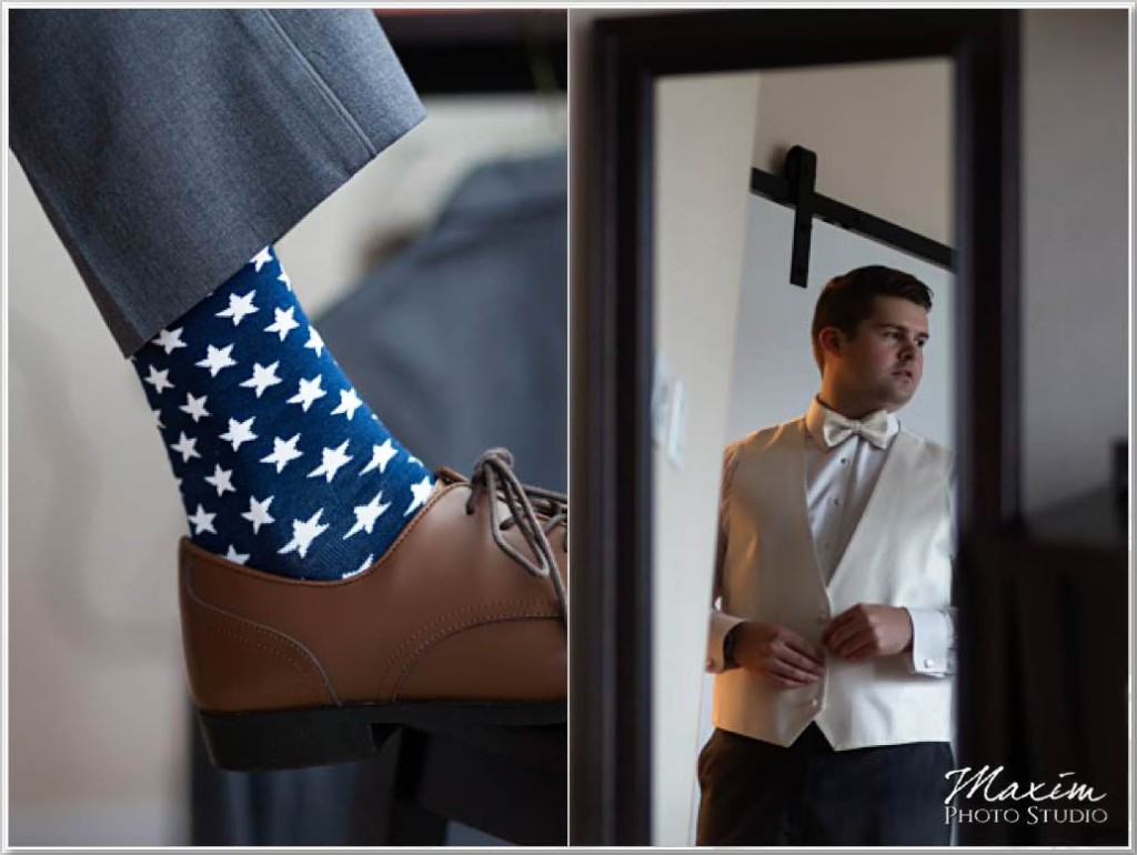 Cincinnati Wedding Photographer Hilton Netherland Plaza Groom preparations