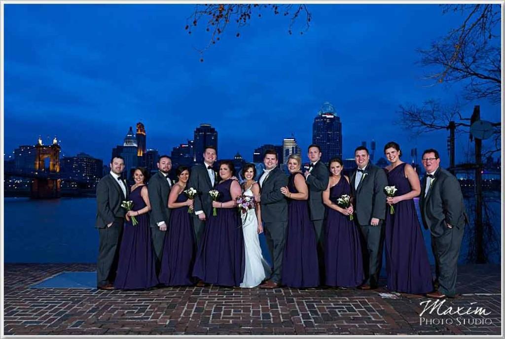 Cincinnati Skyline Wedding Photos