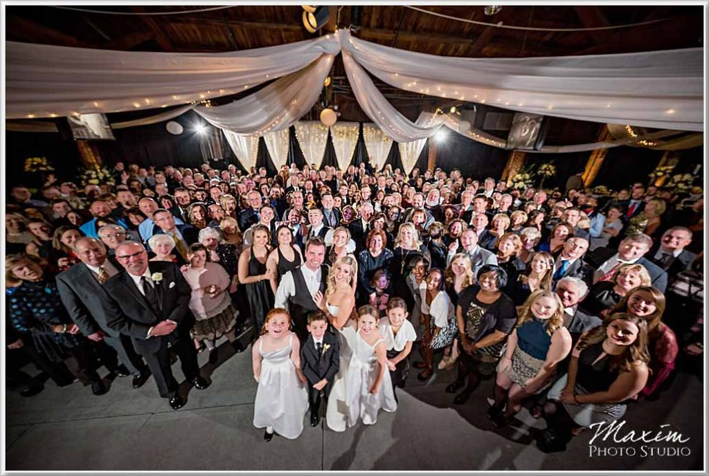 Dayton Wedding Photographers Top of the Market Reception Party Pleasers Group Photo