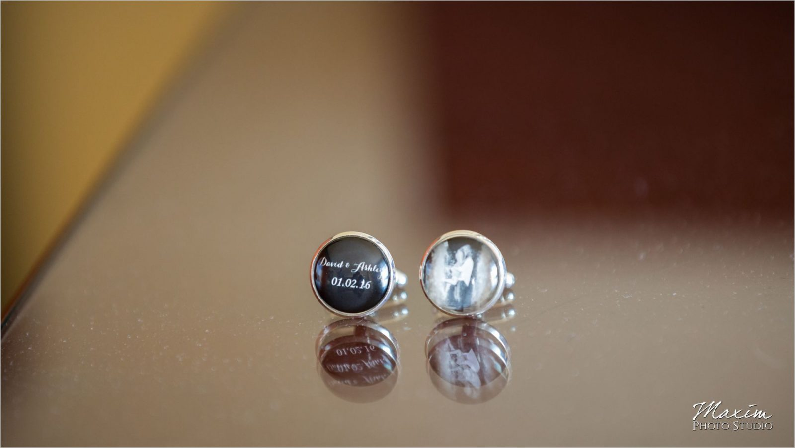 Dayton Marriott Wedding groom cufflinks