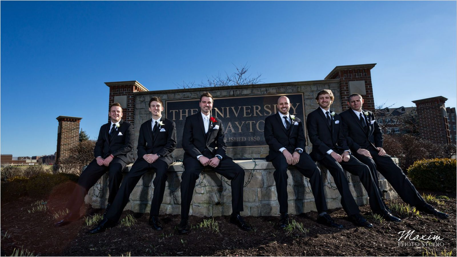 University of Dayton Groom wedding day