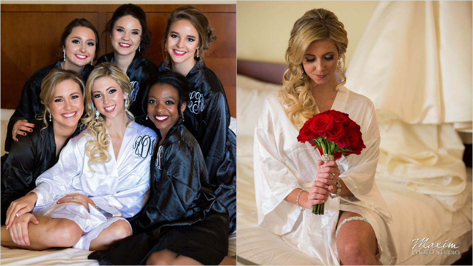 Dayton Marriott Wedding preparations Bridesmaids