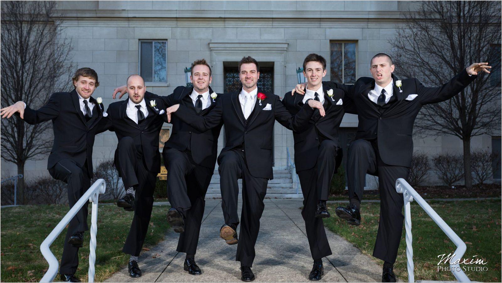 Dayton Masonic Temple groomsmen
