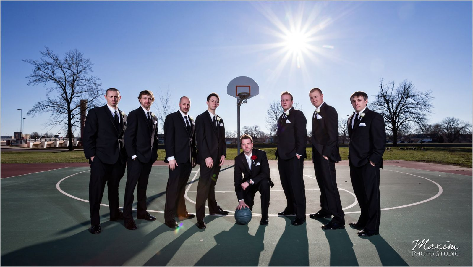 University of Dayton Groom wedding day basketball